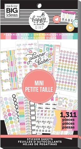 Блокнот со стикерами для ежедневника -Value Pack Stickers - Planner Babe - Mini, 1311 шт