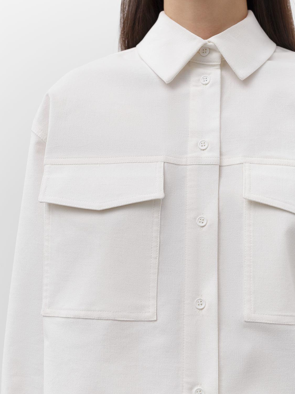 Рубашка Gabriel с накладными карманами, Молочный