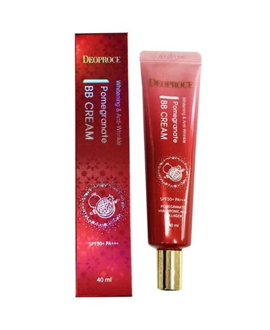 Крем ББ с экстрактом граната DEOPROCE WHITENING AND ANTI-WRINKLE POMEGRANATE BB CREAM 40 мл