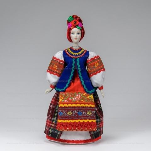 Василина в жилете - фарфоровая кукла в украинском костюме