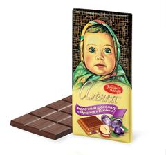 """Шоколад """"Алёнка"""" с фундуком и изюмом 100г"""