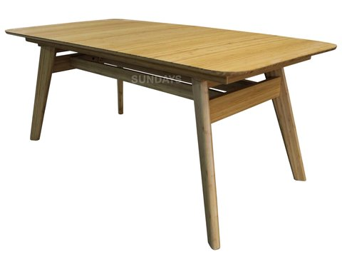 Обеденный раздвижной стол из бамбука Greenington CURRANTE G-0022-CA, карамель