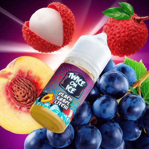 Twice On Ice Salt - Peach Grape Litchi 30 мл