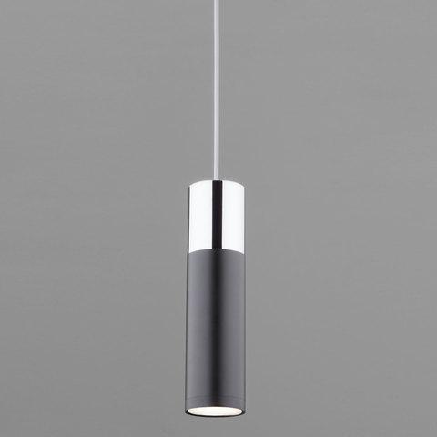 Подвесной светодиодный светильник 50135/1 LED хром/черный