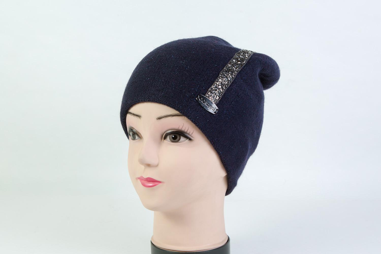Женская шапка тёмно-синяя SH 7G-90005
