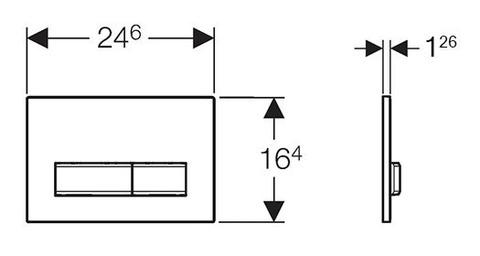 Клавиша смыва Geberit Sigma50 115.788.SD.5 зеркальный дымчатый схема