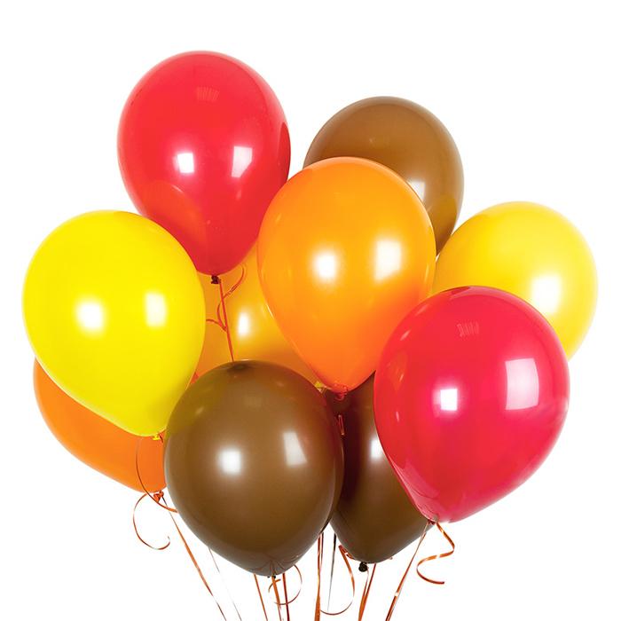 Купить воздушные шары ОСЕНЬ в Перми желтый оранжевый красный коричневый