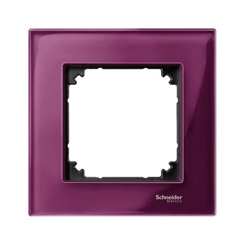Рамка на 1 пост. Цвет Рубиновый. Merten. M-Elegance System M. MTN4010-3206