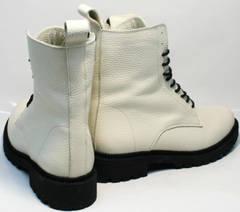 Белые ботинки высокие женские зимние Ari Andano 740 Milk Black.