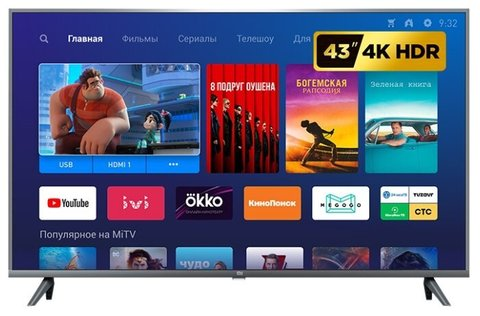"Телевизор Xiaomi Mi TV 4S 43 T2 GLOBAL RUS 42.5"" (2019)"