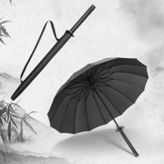 Зонт самурайский меч, 16 спиц (черный)