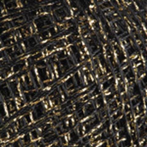 Пряжа YarnArt Camellia арт. 413 черный с золотом