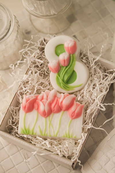 Форма для мыла Тюльпаны 8 марта