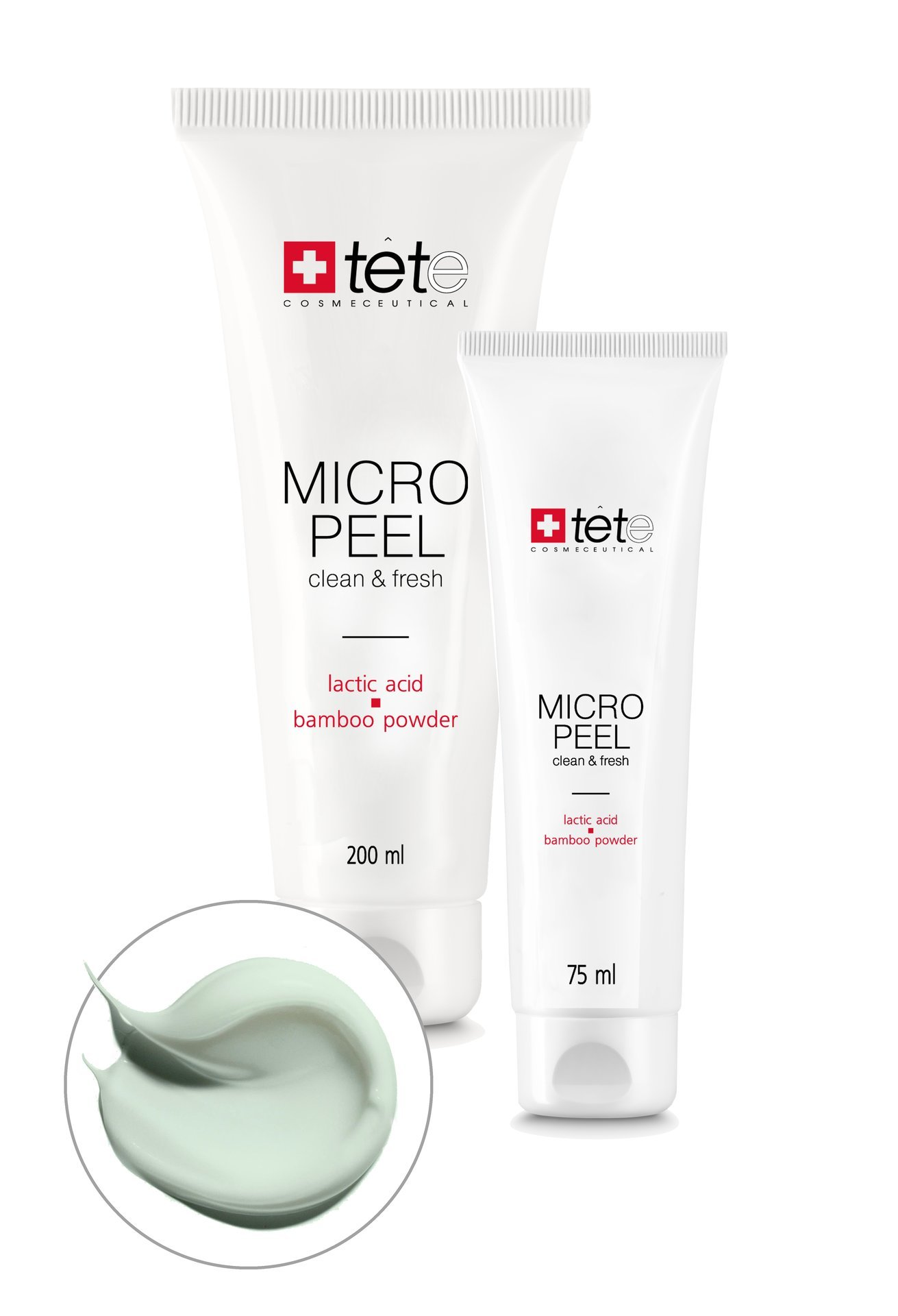 Мягкий эксфолиант с молочной/гликолевой кислотами и бамбуковой пудрой / TETe Micro Peel