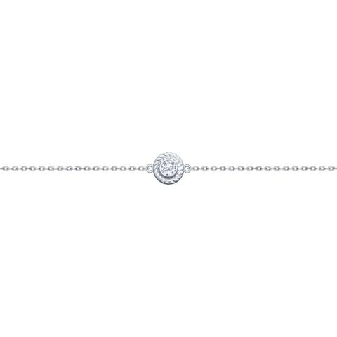 Браслет с бегунком из серебра в стиле Tiffany от SOKOLOV