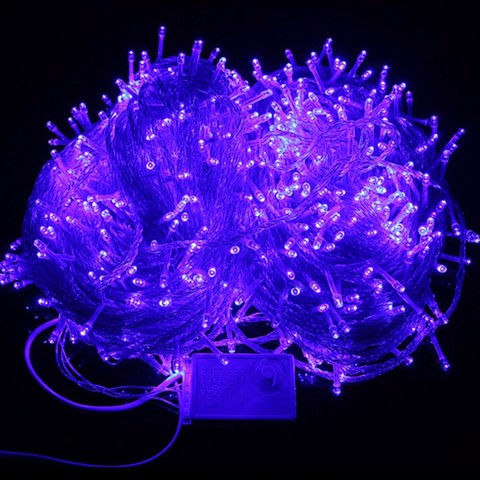 Гирлянда светодиодная для украшения елки синяя 400 лед