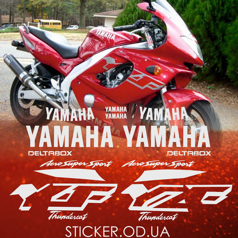 Набор виниловых наклеек на мотоцикл YAMAHA YZF 600R 2000, Thundercat