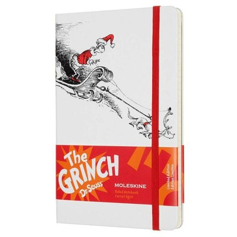 Блокнот Moleskine Limited Edition DR. SEUSS LEDSSBQP060 Large 130х210мм 240стр. линейка белый
