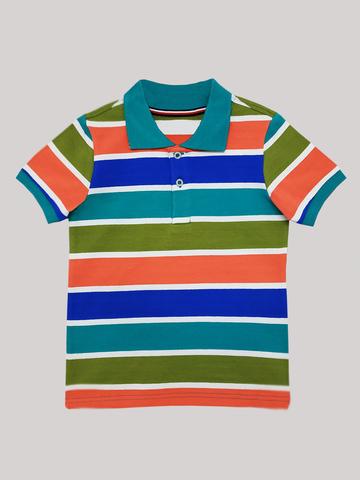 Футболка-поло  (ментол хаки оранжевый синий)