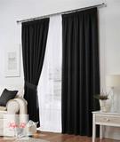 Комплект штор Тоскана (чёрный)