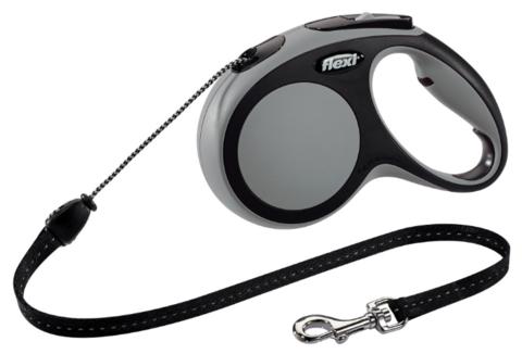 Flexi поводок-рулетка New Comfort М (до 20 кг) трос 5 м (черный/антрацит)