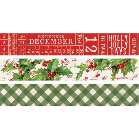 Набор скотчей Simple Vintage Christmas -  3 шт.