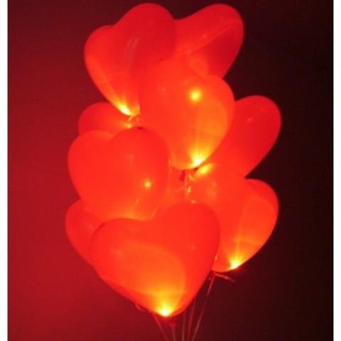 Светящиеся шары сердца 41 см.