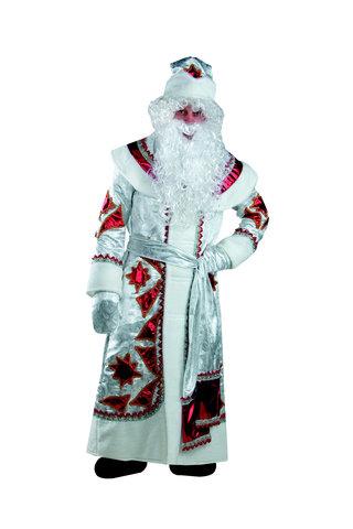 Дед Мороз серебряно-красный