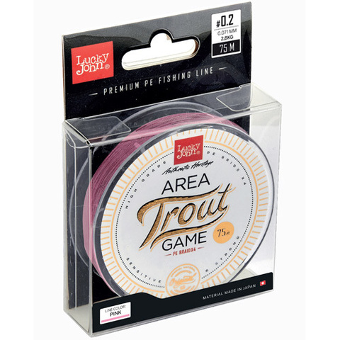 Плетеный шнур LUCKY JOHN Area Trout Game Braid Pink 75 м - 0,093 мм