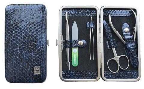 Маникюрный набор СТАЛЕКС НМ-04/1 «Рамка», 5 предметов. Натуральная кожа, ручная заточка. Цвет № 58