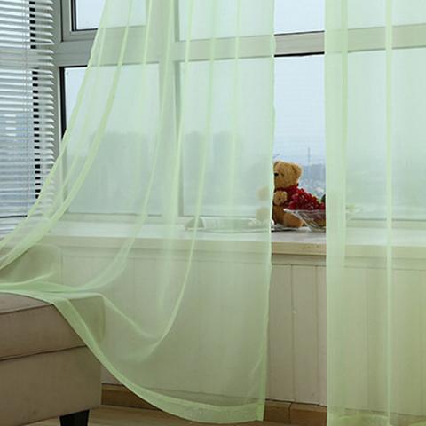 Тюль вуаль на шторной ленте. Салатовая. оптом. Арт. Kv15