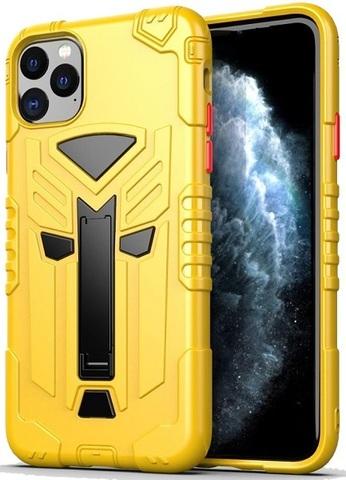 Чехол iPhone 11 Pro серии Dual X с магнитом и складной подставкой, желтого цвета, Caseport