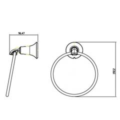 Полотенцедержатель круглый KAISER Bronze II KH-4001 схема