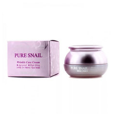 Bergamo Pure Snail Wrinkle Care Cream - Антивозрастной крем для лица с муцином улитки