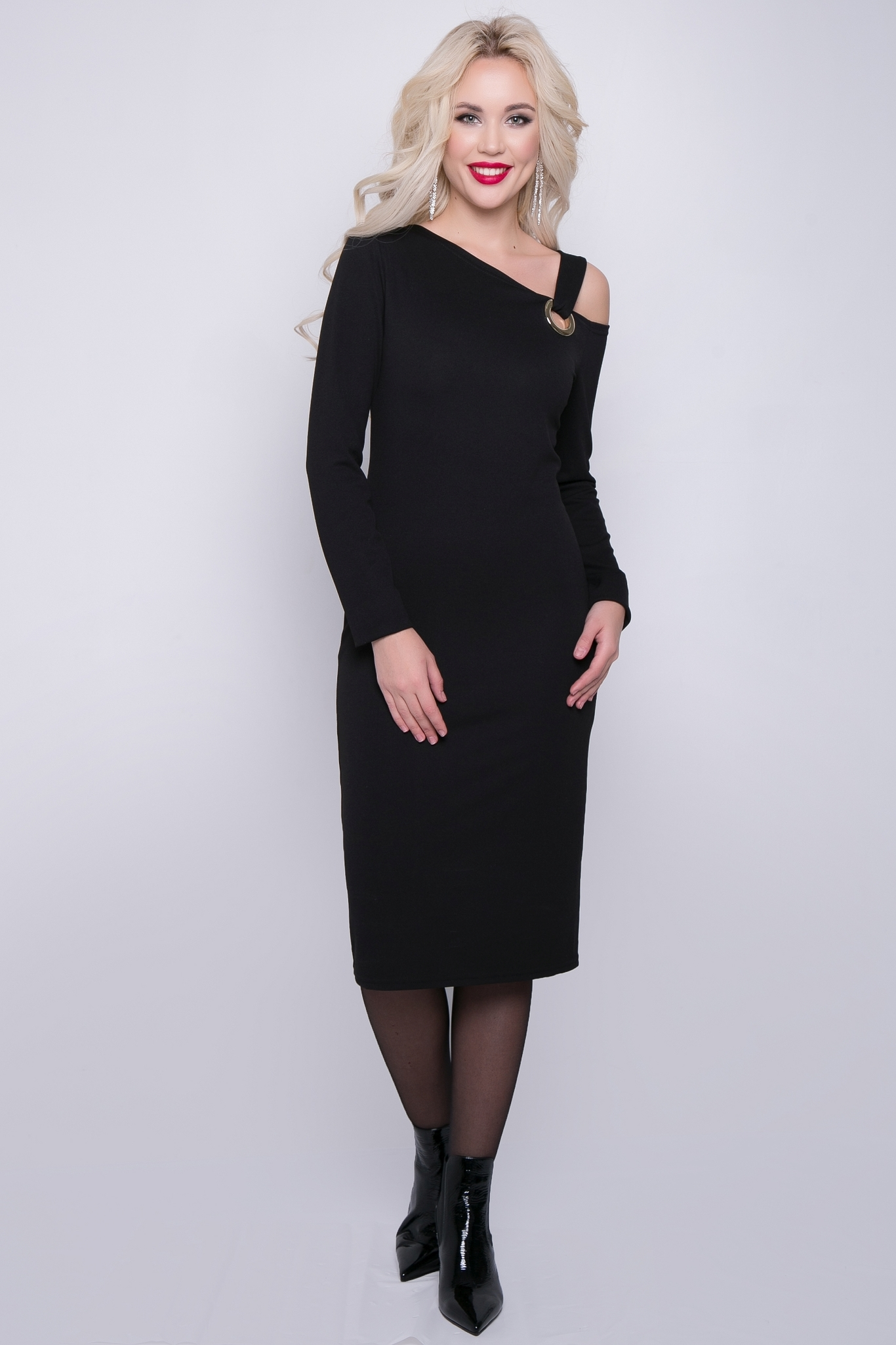 """Платье """"Элегантный шик"""" (черное)"""