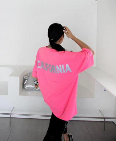 Футболка CALIFORNIA, розовый неон