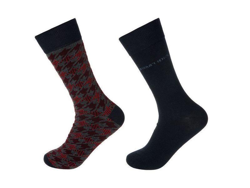 Носки мужские JOHN FRANK - комплект из 2 пар (бордовые, черные)
