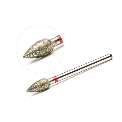 Фреза алмазная, пламя (мягкая) 4,5х9 мм