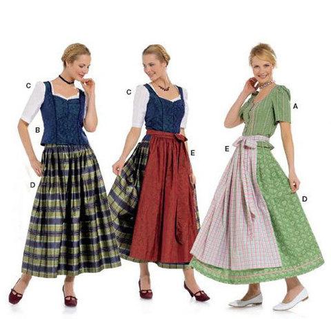 Выкройка Burda (Бурда) 7870 — Баварский костюм