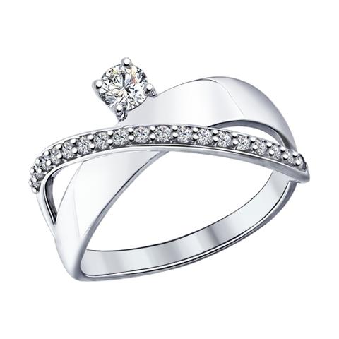 94012093- Кольцо из серебра с фианитами от SOKOLOV