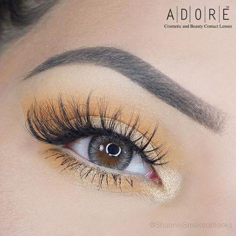 Итальянские цветные линзы ADORE Bi - Tone gray /Цветные линзы серые для светлых и темных глаз / Цветные линзы с диоптрией/цветные линзы плюсовые