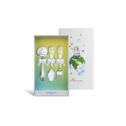 24019 - Набор из трех предметов для малыша, столовое серебро