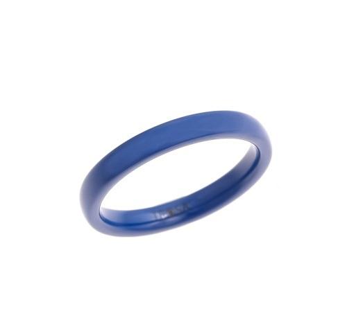 Керамическое кольцо синего цвета