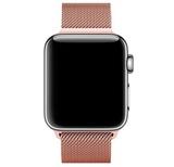 Металлический ремешок Milanese loop 38мм\ 40мм для Apple Watch (Розовое-золото)