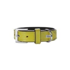 Ошейник для собак, Hunter Capri 45 (33-39 см)/2,8 натуральная кожа, лайм/черный