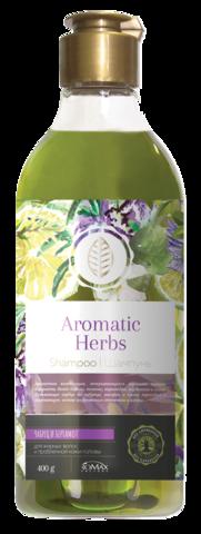 Romax Aromatic Herbs Шампунь Чабрец и Баргамот для жирных волос и проблемной кожи головы 400г