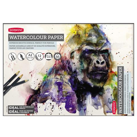 Альбом для акварельных карандашей 300гр/кв.м 42*59.4см 12л склейка по короткой стороне