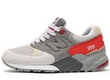 Кроссовки Женские New Balance 999 Premium Double Grey Red