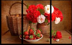 """Модульная картина """"Цветочная ягода"""""""