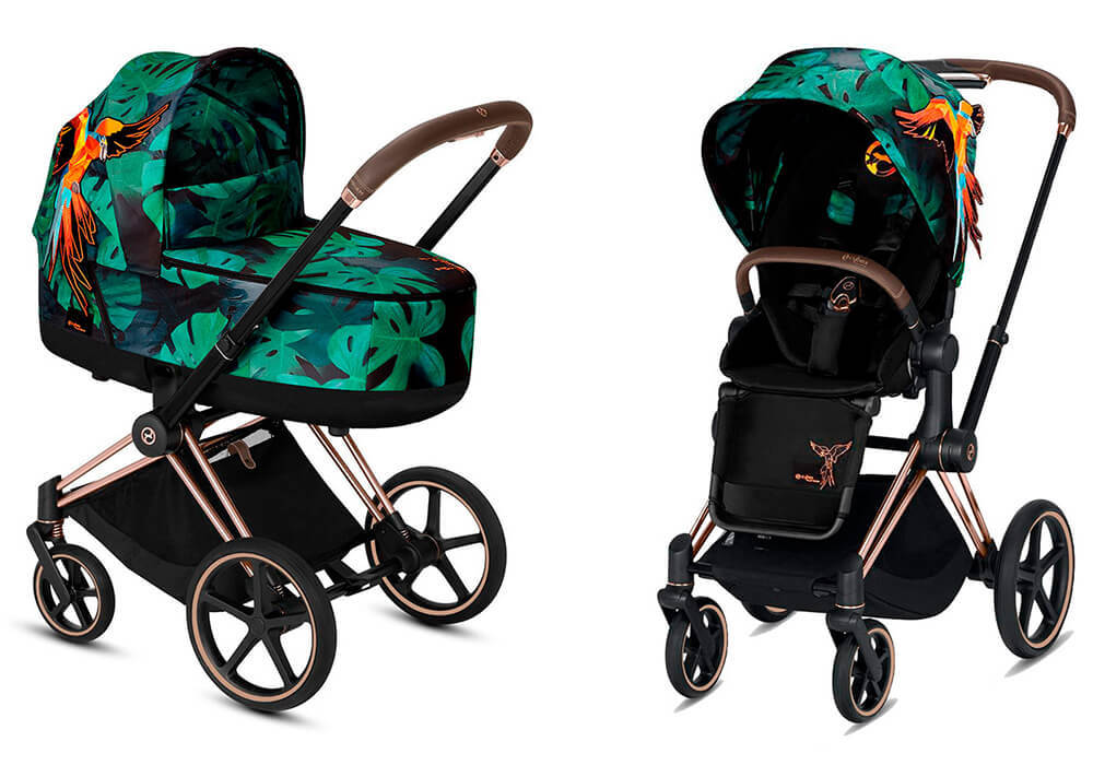 Цвета Cybex Priam 2 в 1 Детская коляска Cybex Priam III 2 в 1 FE Birds of Paradise шасси Rosegold cybex-priam-iii-2-in-1-fe-birds-of-paradise-rosegold.jpg